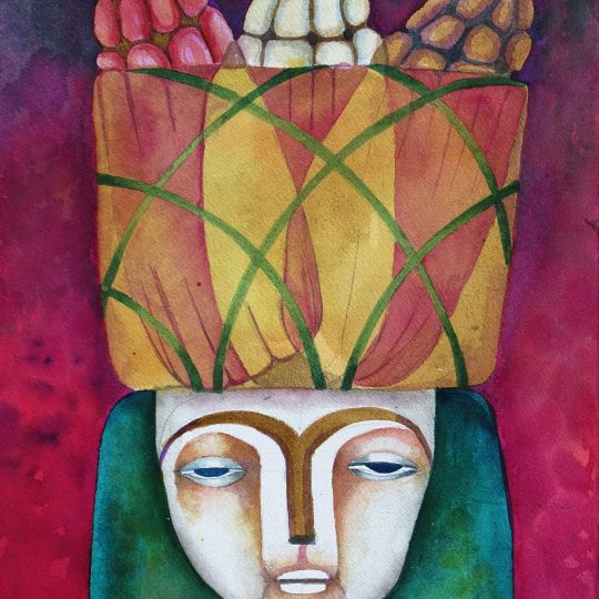 "Watercolor painting ""3 Tipos"""