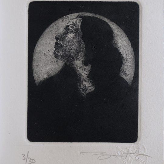 Grabado «Serie efigie» 3/30 por Iván Bautista