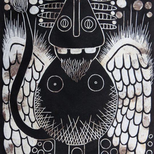 """Linoleum engraving """"Ángel Chivato"""" 1/7"""