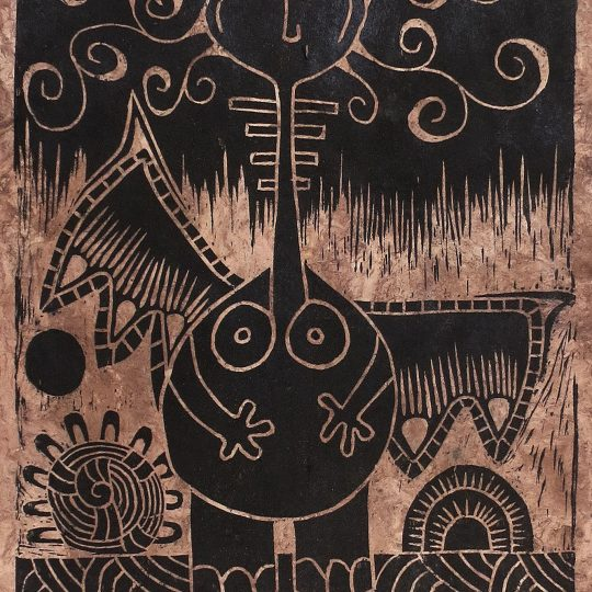 "Linoleum engraving ""Ángel Gordo"" 5/7"