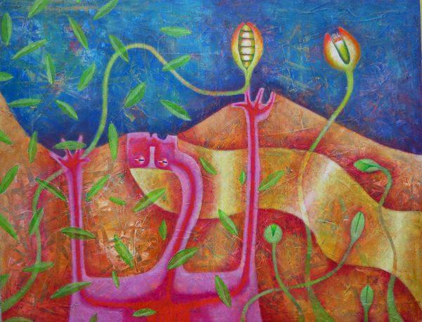 58 Alcanzando el tiempoacrílico en tela-100 x 130 cm (1)